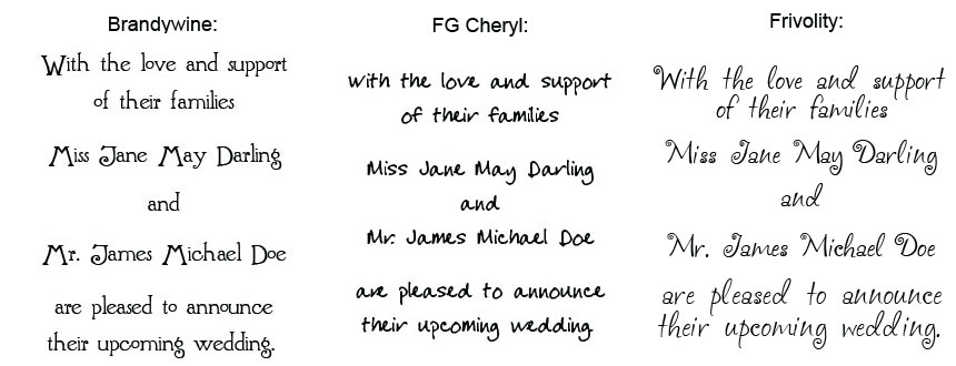 Wedding Invitations Fonts In Microsoft Word: 7 Wedding Invitation Font Samples Images