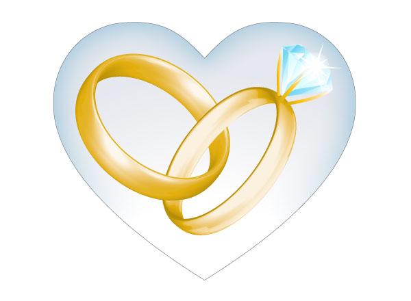 Wedding Ring Clip Art Vector
