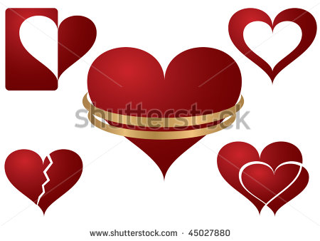 Wedding Rings with Heart Vector