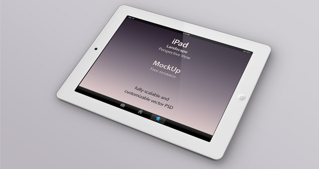 White iPad PSD Mockup Vector