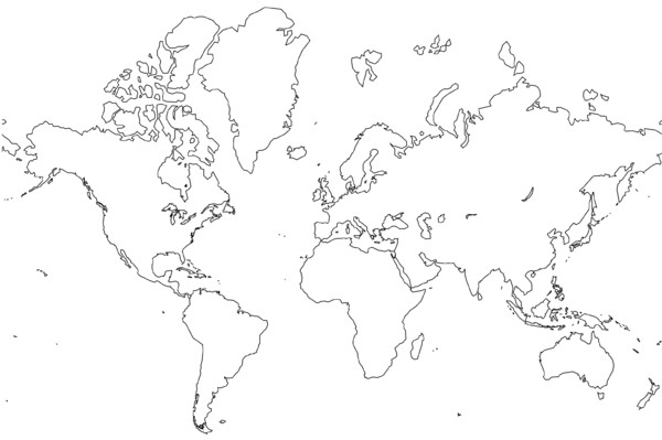 13 World Map Outline Vector Images World Map Outline Continents