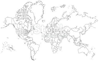 13 world map outline vector images world map outline continents world map outline vector free gumiabroncs Gallery
