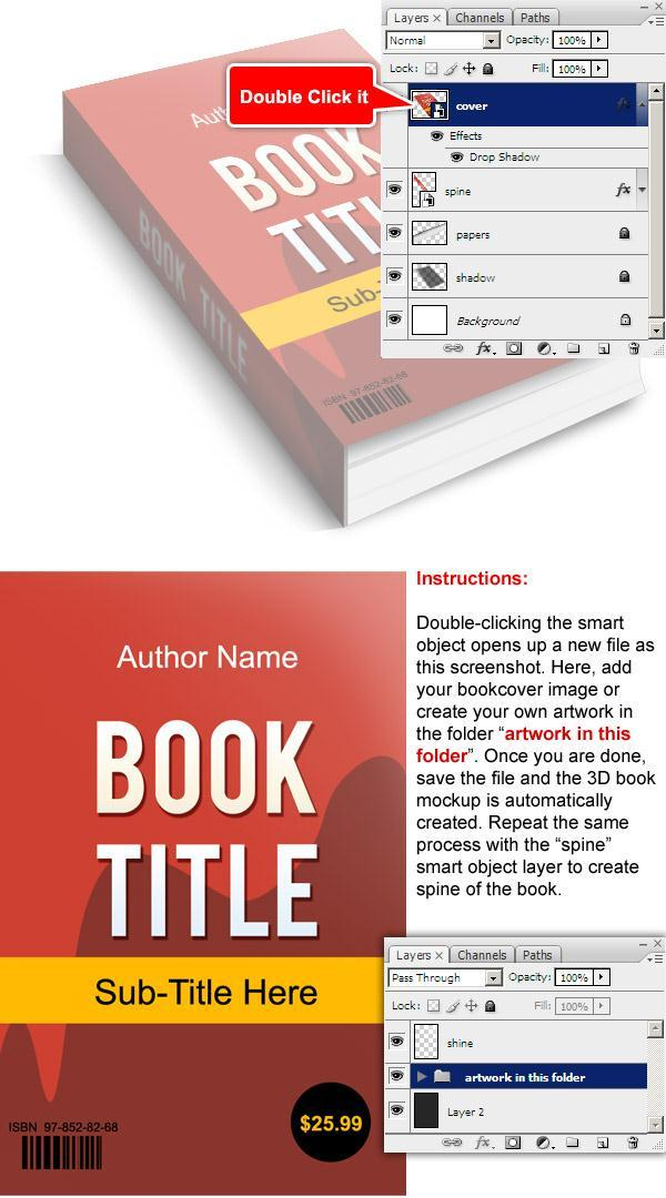 D Book Cover Template Psd : D book template psd files free download images blank