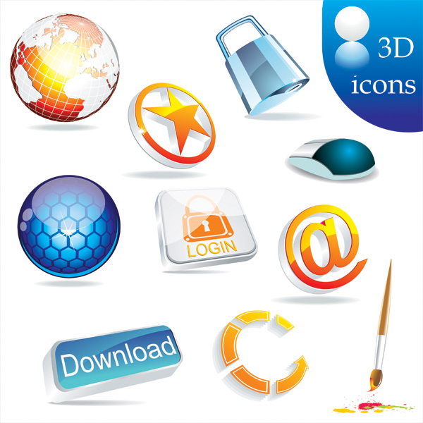 17 3D Vector Icons Images