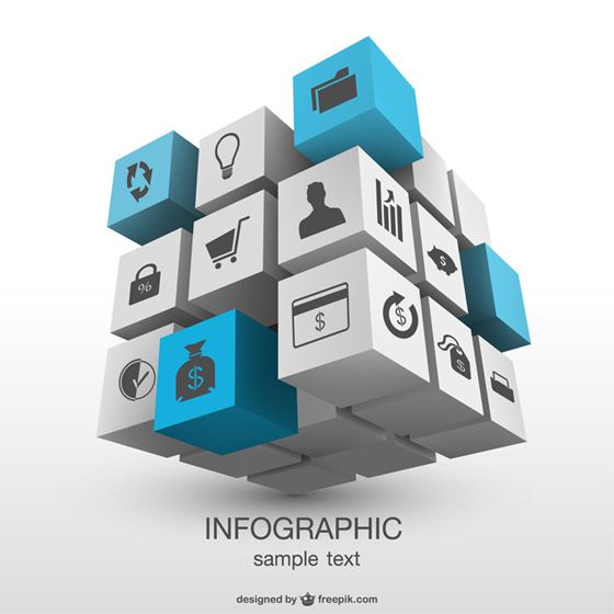3D Infographic Vector Download