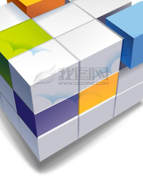 3D Rubik's Cube Template