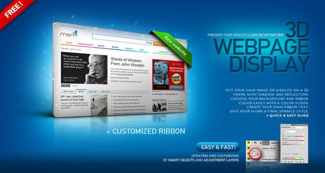 18 3d square website psd template images how to make a 3d cube in 3d web templates maxwellsz