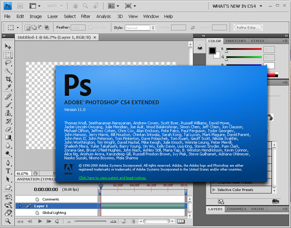 Adobe Photoshop CS4 Free Download
