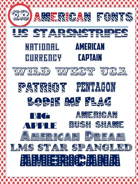 American Patriotic Font