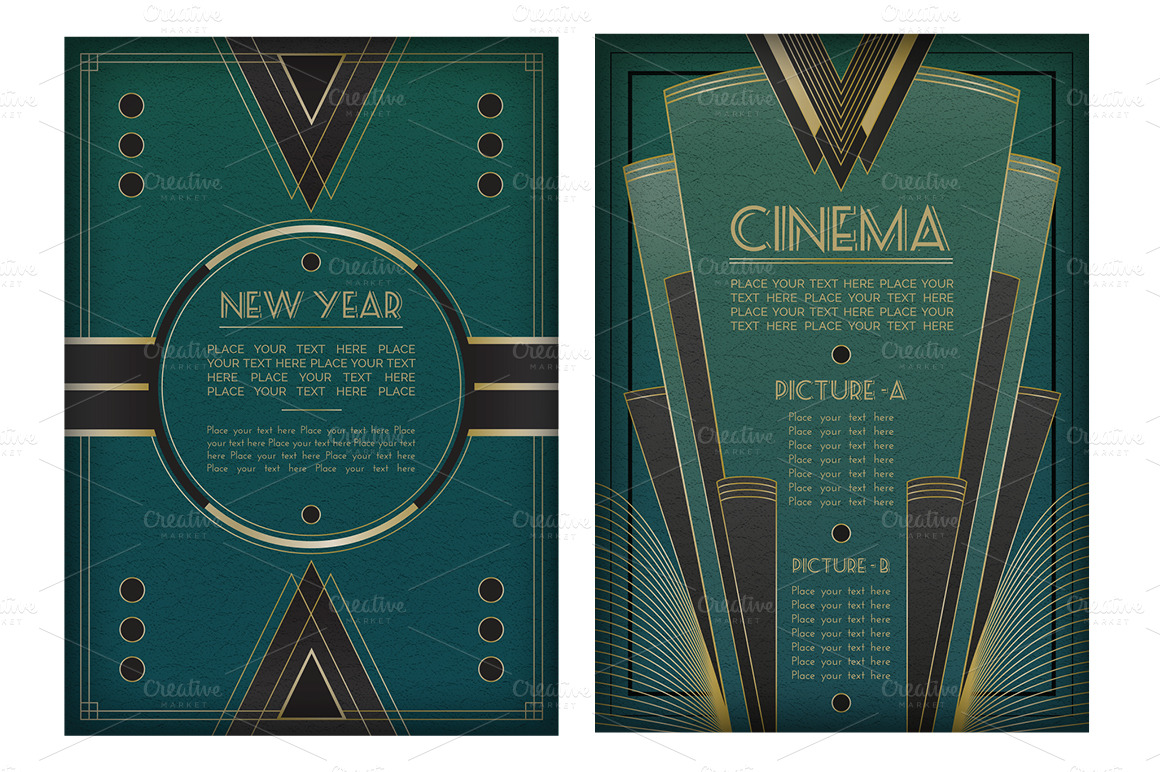 Art Deco Graphic Design Style And Art Deco Design Elements