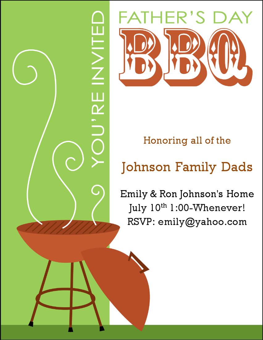 summer bbq invitation template | datariouruguay