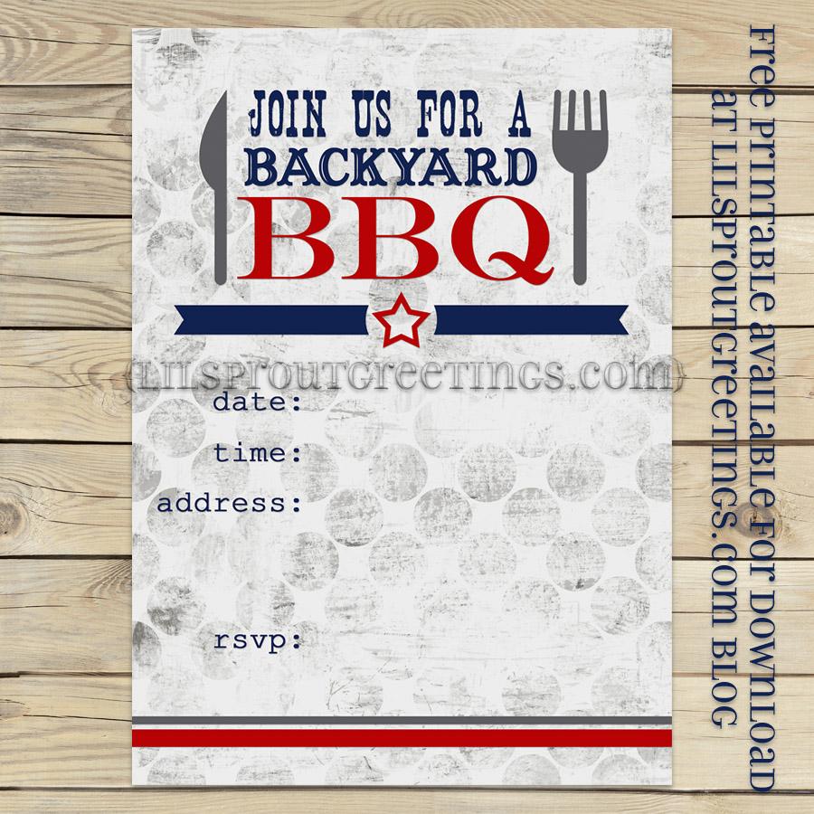 BBQ Party Invitation Printable Free