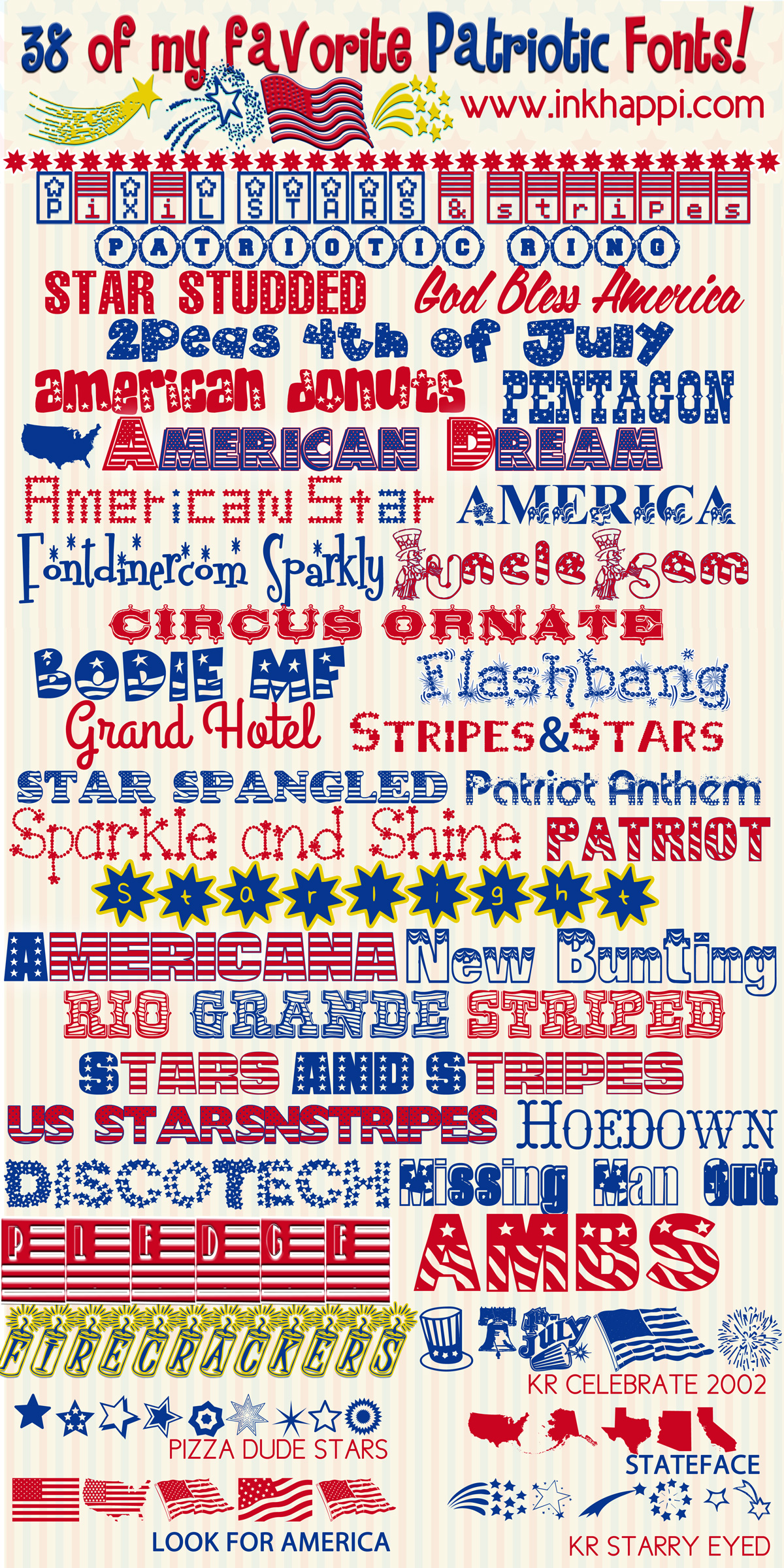 Best Free Fonts Patriotic