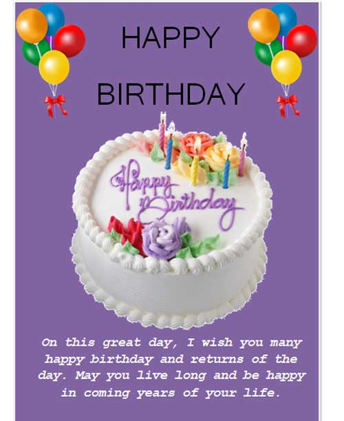 Birthday Card Templates Microsoft Word