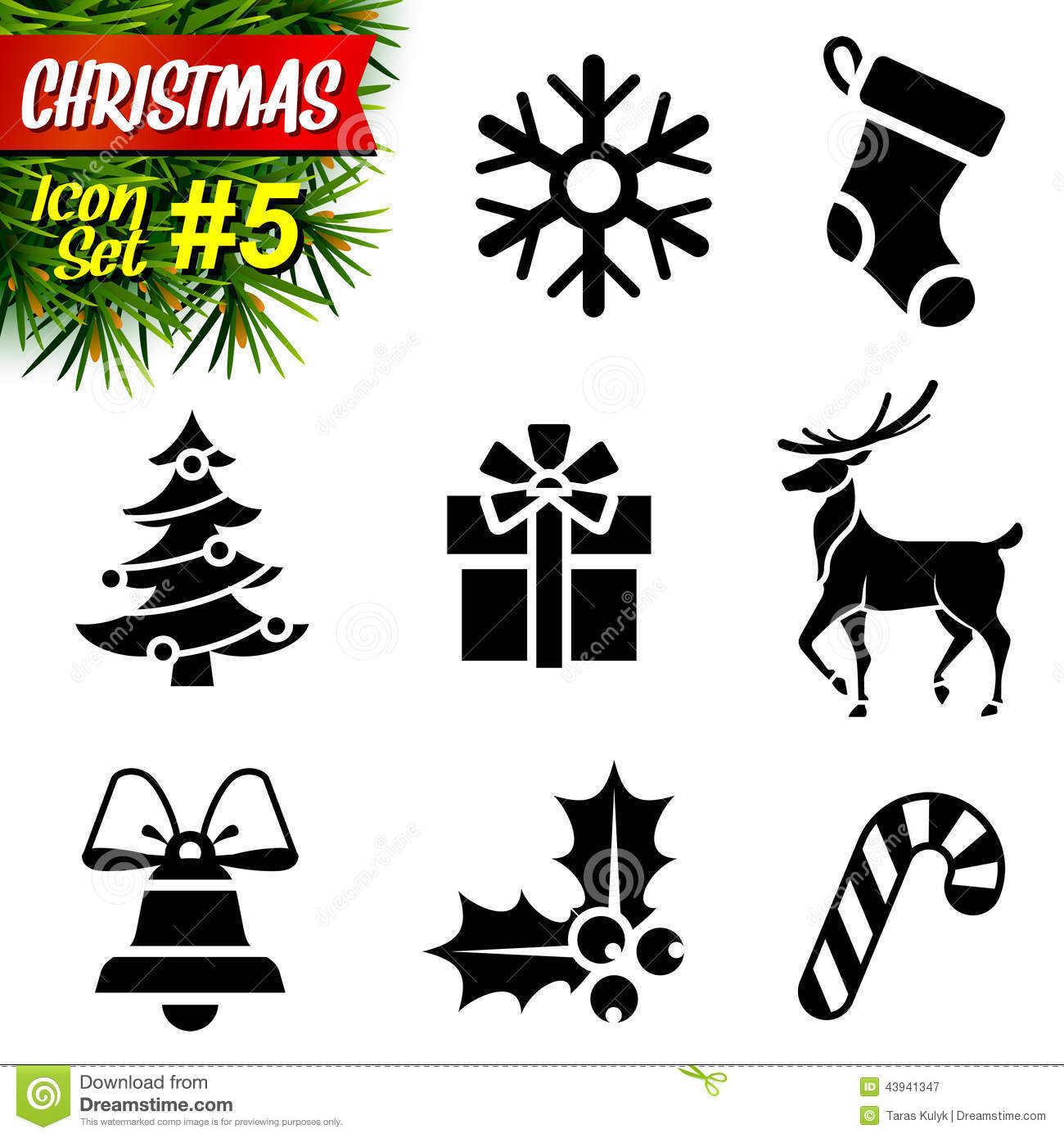 11 Icons Black And White Christmas Images