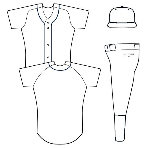 Blank Baseball Uniform Template