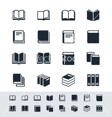 14 Vector Book Icon Images