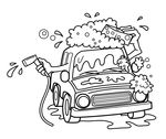Car Wash Clip Art Black and White