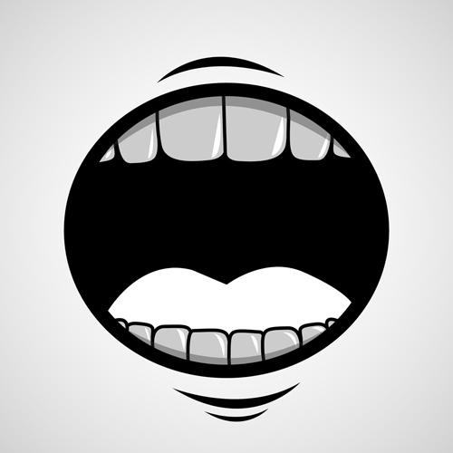 Cartoon Mouth and Teeth