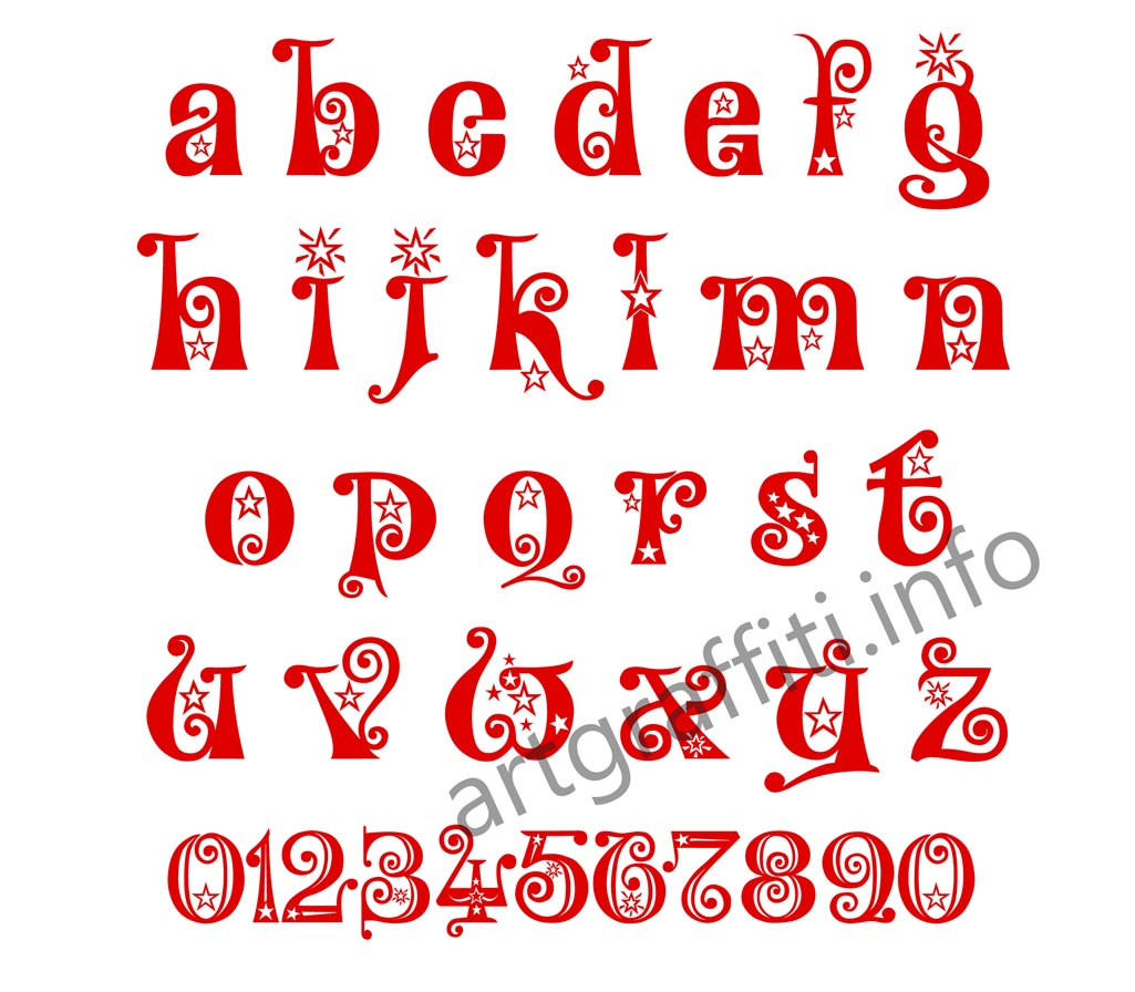 Christmas Graffiti Letters.Different Font Letters Alphabet Christmas Different Fonts Of