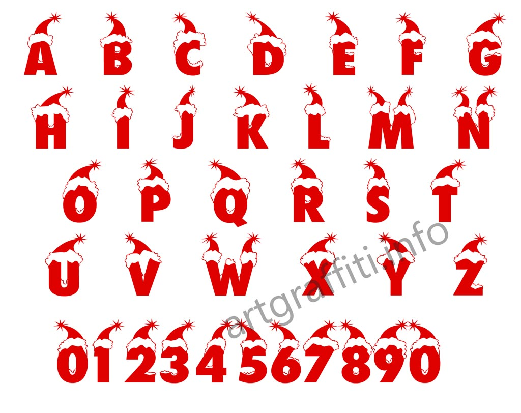 13 Christmas Letter Fonts Images