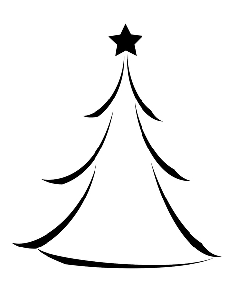 9 Black And White Christmas Tree Icon Images Christmas Tree Icon