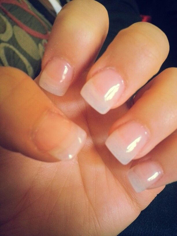 Clear Acrylic Nails Simple