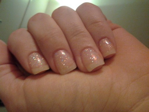 Clear Glitter Acrylic Nails