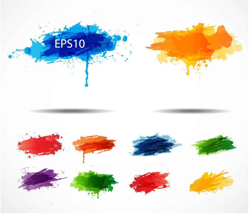 Color Ink Splash Vector