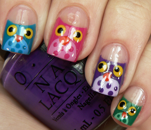 Cool Owl Nail Designs