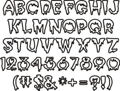 Creepy Halloween Fonts Alphabet