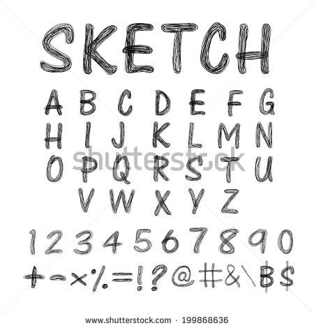 Creepy Letter Fonts Alphabet