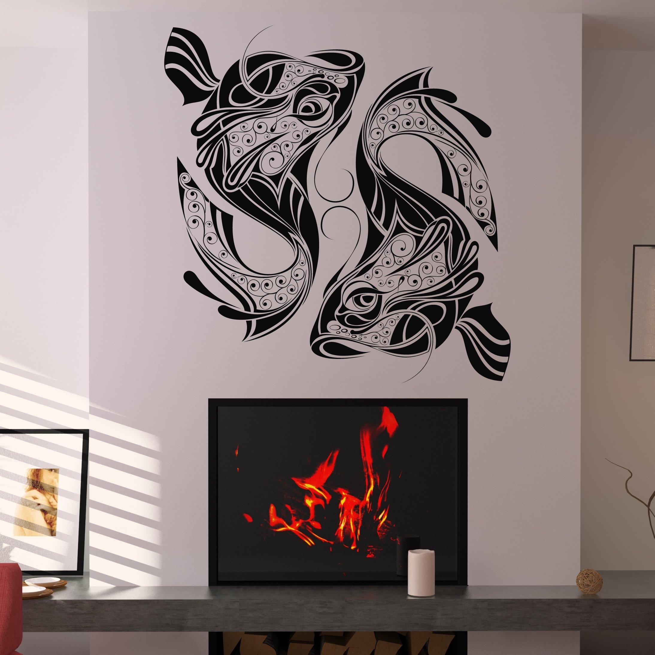 Wall Art Decals For Living Room: 17 Architectural Wall Graphics Images