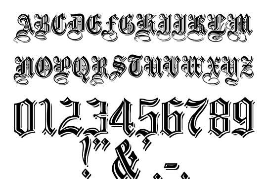 Hairstyle 6 Letters: 9 Antique Lettering Fonts Images