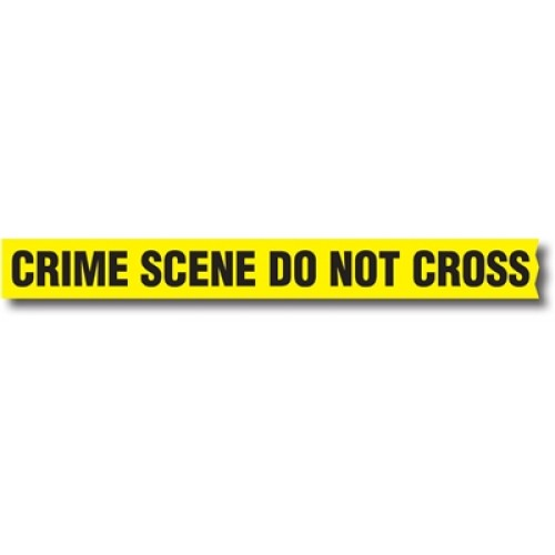 Do Not Cross Tape Crime Scene