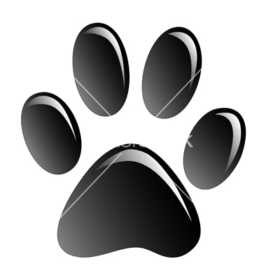 14 Vector Running Dog Paw Print Images