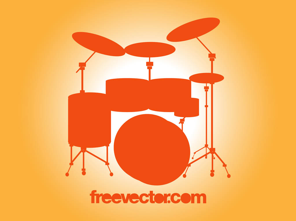 16 Vector Clip Art Drum Set Images