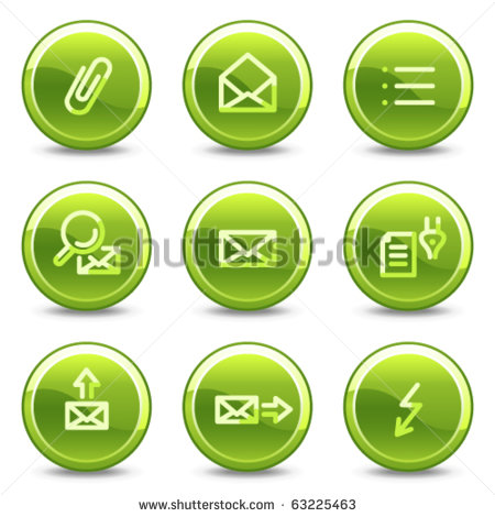 Email Icon Green Circle