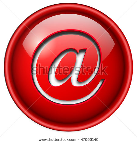 Email Icon Red Circle Logo