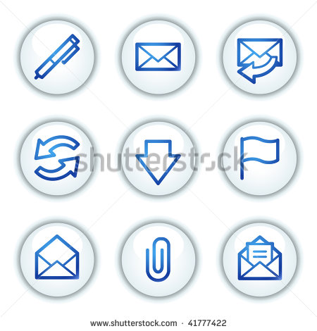 Email Icon White Circle