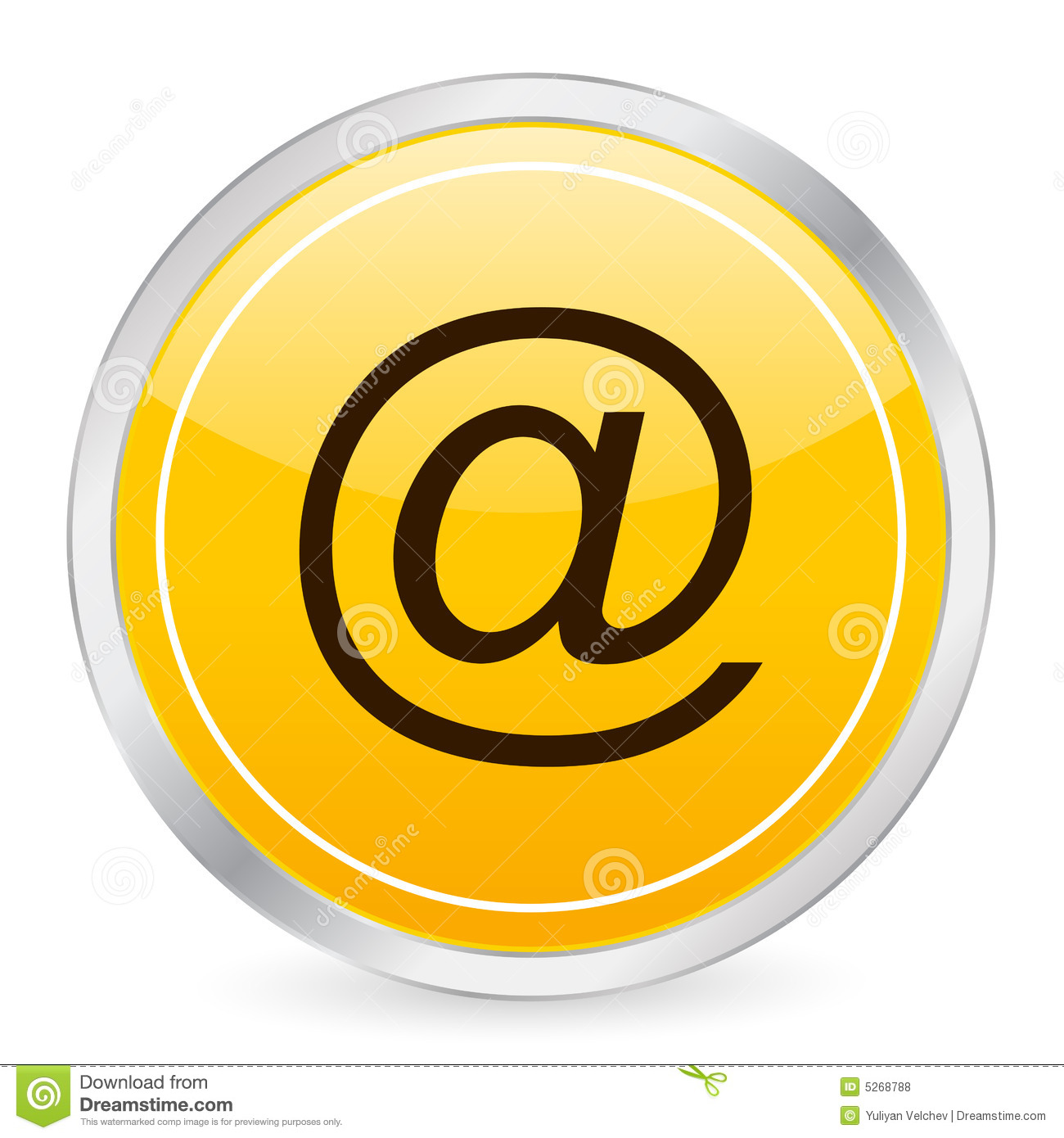 Email Icon Yellow Circle