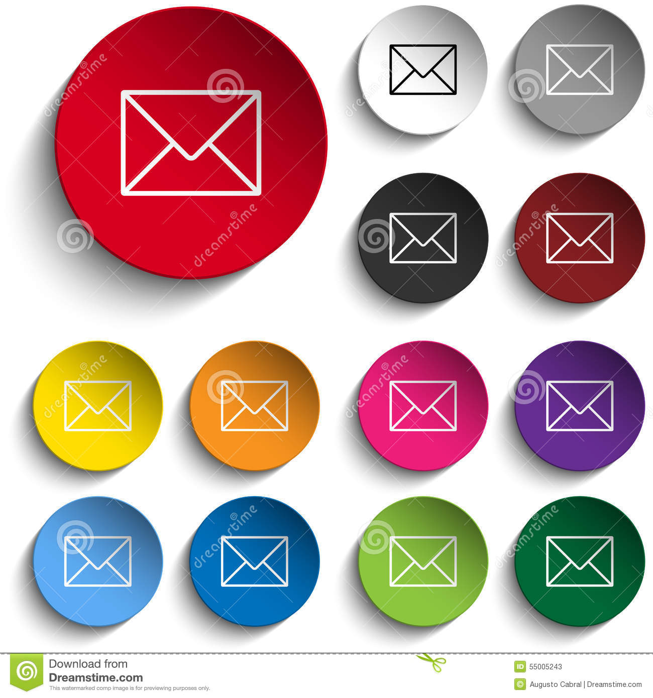 Envelope Circle Icon