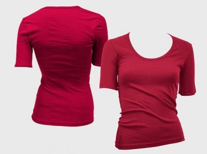 Female T-Shirt Template PSD