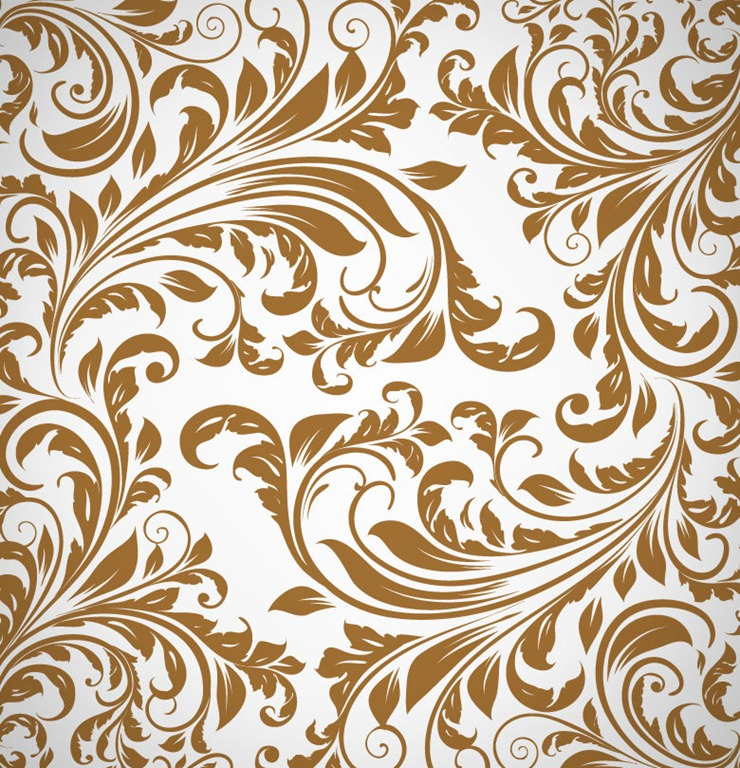 12 Abstract Floral Design Pattern Images