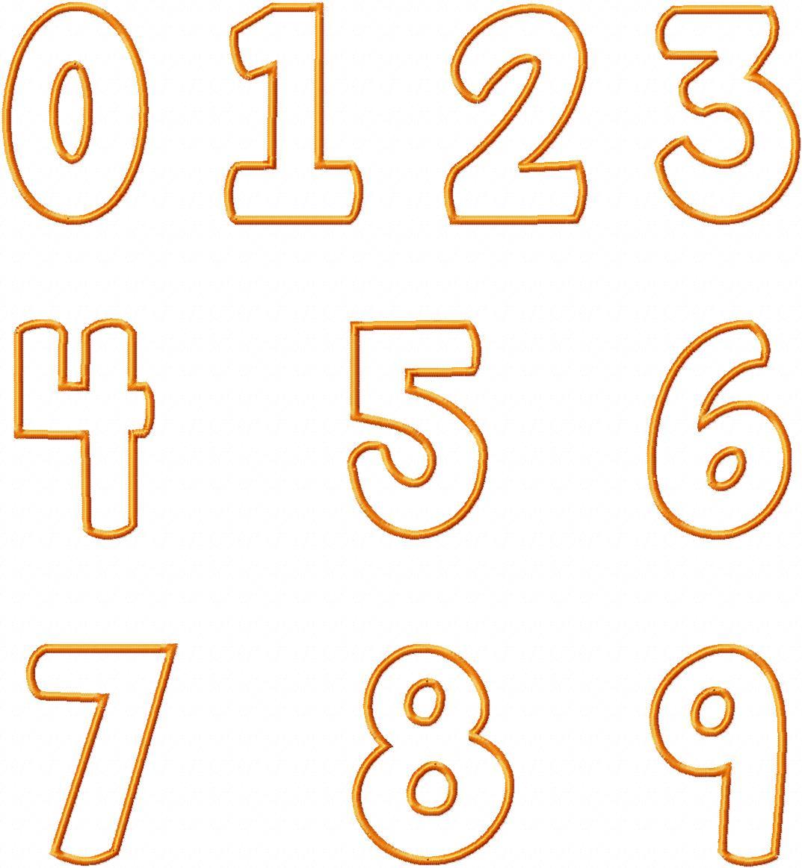 14 Free Number Fonts Images - Chalkboard Font Numbers ... Number Designs