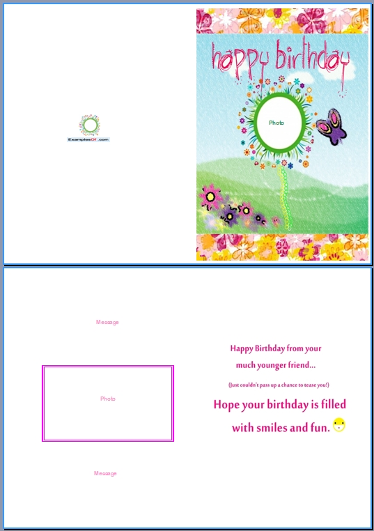19 Birthday Card Templates For Word Images