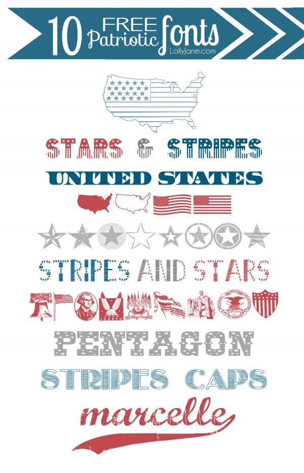 Free Patriotic Fonts