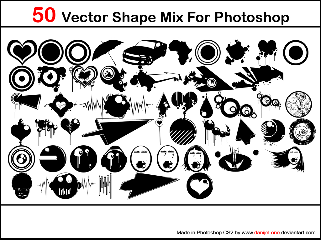 10 Free Vector Shapes For Photoshop Images