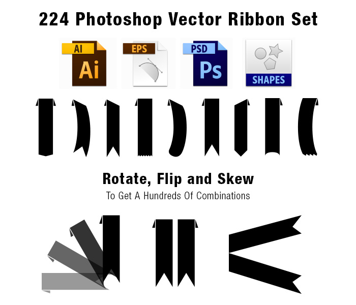 how to draw a ribbon banner in photoshop