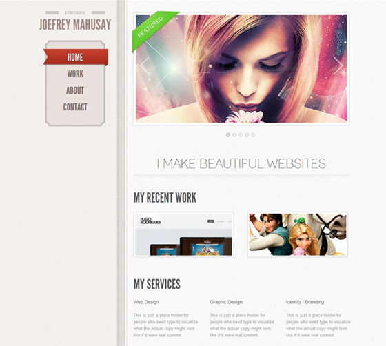 12 Free Psd Portfolio Template With HTML5 Images